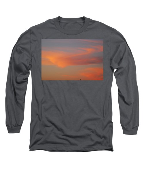 Swirling Clouds In Evening Long Sleeve T-Shirt