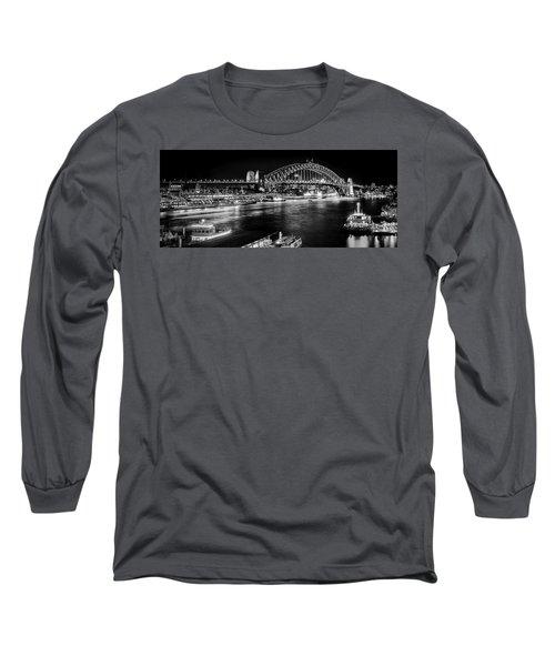 Long Sleeve T-Shirt featuring the photograph Sydney - Circular Quay by Chris Cousins