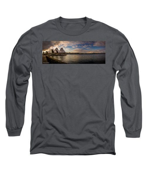 Sydney Harbor Long Sleeve T-Shirt by Andrew Matwijec