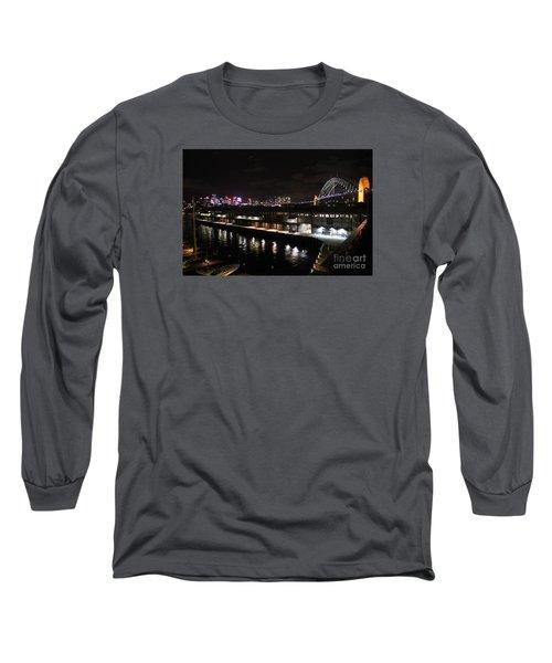 Sydney Harbor At Night Long Sleeve T-Shirt