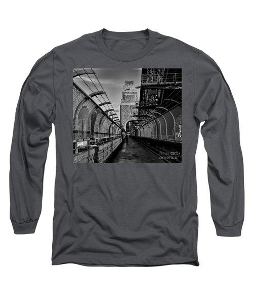 Sydney Harbor Bridge Bw Long Sleeve T-Shirt by Diana Mary Sharpton
