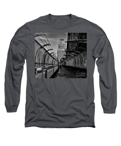 Sydney Harbor Bridge Bw Long Sleeve T-Shirt