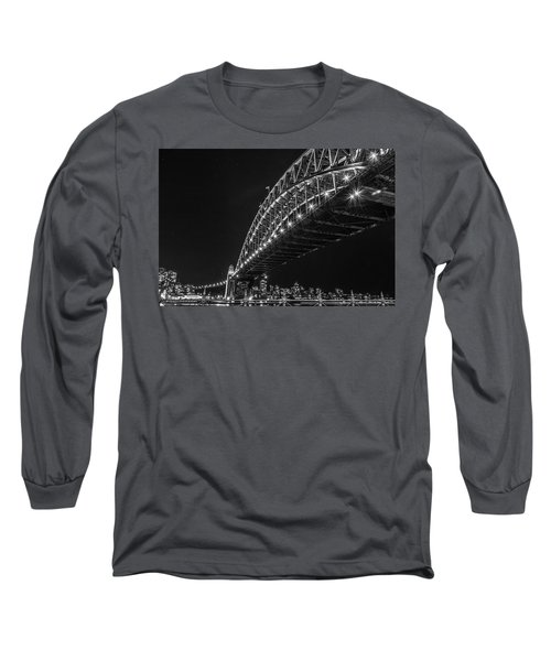 Sydney Harbour Bridge At Night Long Sleeve T-Shirt