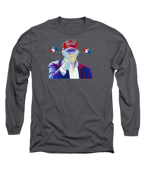 T R U M P Donald Trump Long Sleeve T-Shirt