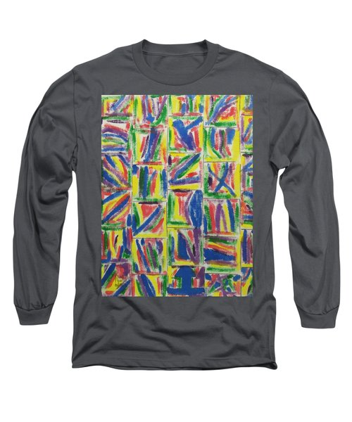 Artwork On T-shirt - 009 Long Sleeve T-Shirt by Mudiama Kammoh