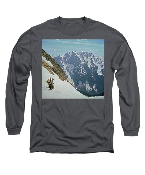T04402 Beckey And Hieb After Forbidden Peak 1st Ascent Long Sleeve T-Shirt