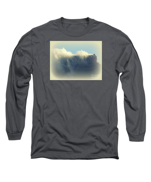 Table Rock With Cloud 2 Long Sleeve T-Shirt by John Potts