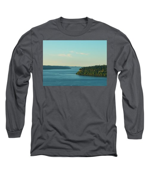 Tacoma Narrows And Commencement Bay II Long Sleeve T-Shirt