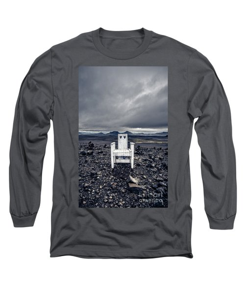 Long Sleeve T-Shirt featuring the photograph Take A Seat Iceland by Edward Fielding