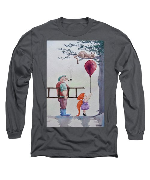 Long Sleeve T-Shirt featuring the painting Take It Please by Geni Gorani