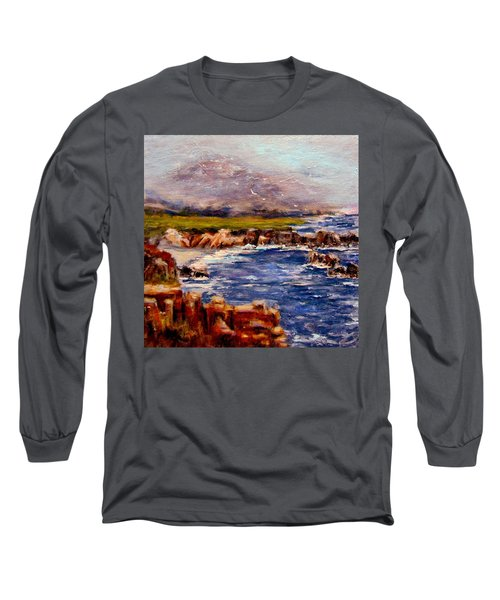 Long Sleeve T-Shirt featuring the painting Take Me To The Ocean,, by Cristina Mihailescu