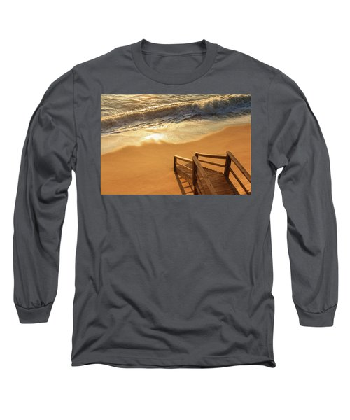 Take The Stairs To The Waves Long Sleeve T-Shirt by Joni Eskridge