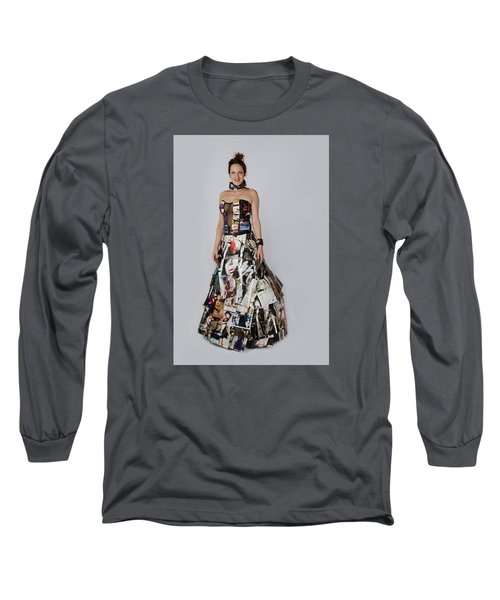 Megan In Gown Long Sleeve T-Shirt