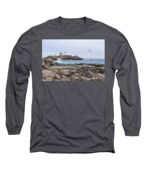 Tale Of Two Lighthouse Long Sleeve T-Shirt by Patrick Fennell