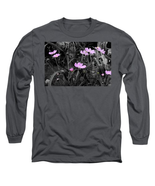Tall Pink Poppies Long Sleeve T-Shirt