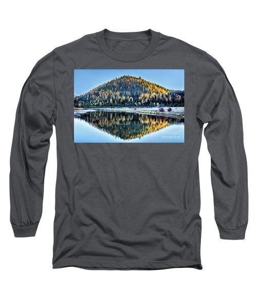 Tamarack Glow Idaho Landscape Art By Kaylyn Franks Long Sleeve T-Shirt