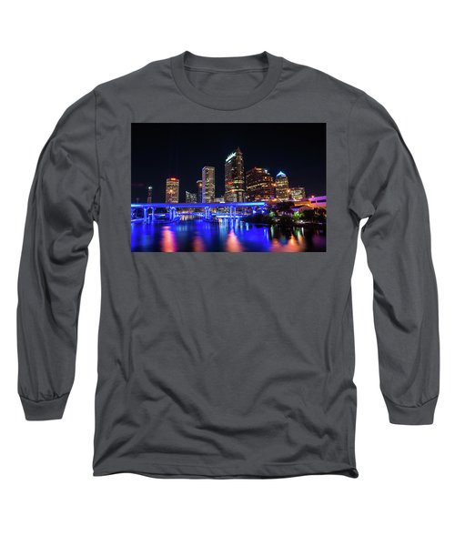 Tampa Skyline Long Sleeve T-Shirt by Steven M