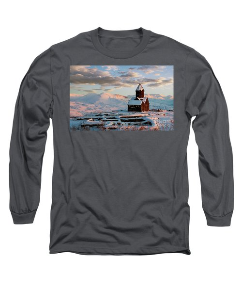 Tanahat Monastery At Sunset In Winter, Armenia Long Sleeve T-Shirt