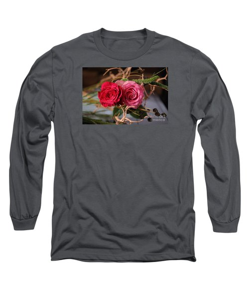 Long Sleeve T-Shirt featuring the photograph Tangled On Driftwood by Diana Mary Sharpton