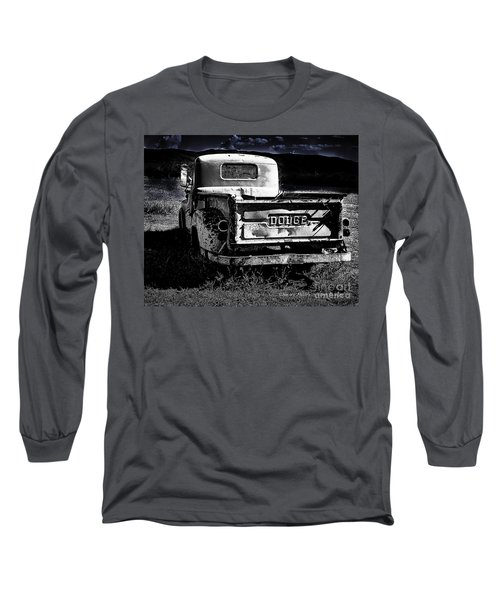 Taos Dodge B-w Long Sleeve T-Shirt