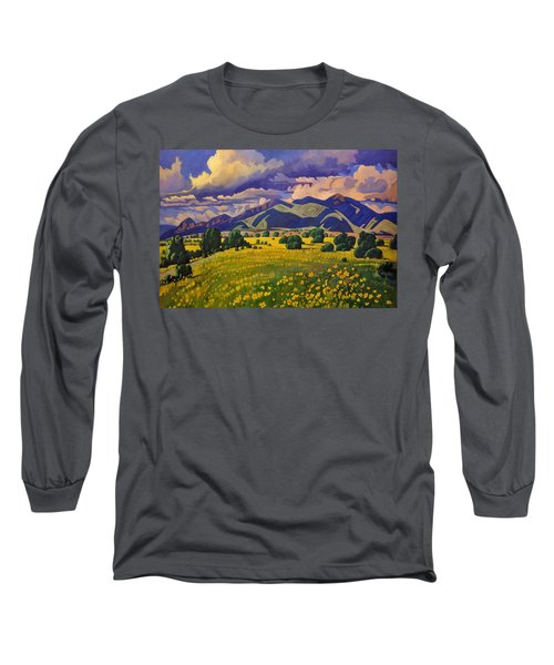 Taos Fields Of Yellow Long Sleeve T-Shirt
