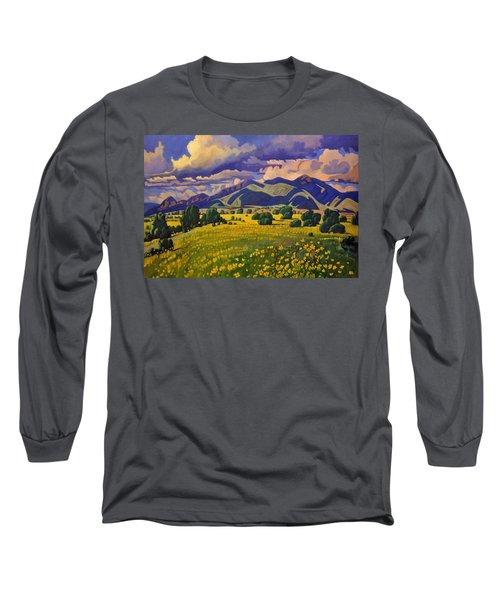 Taos Fields Of Yellow Long Sleeve T-Shirt