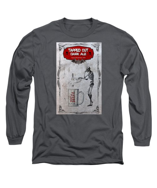 Long Sleeve T-Shirt featuring the digital art Tapped Out Ale by Greg Sharpe