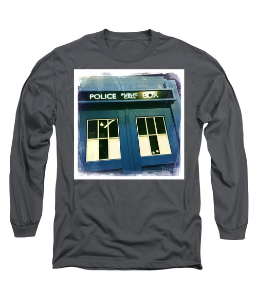 Tardis Dr Who Long Sleeve T-Shirt