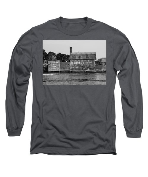 Tarr And Wonson Paint Manufactory In Black And White Long Sleeve T-Shirt