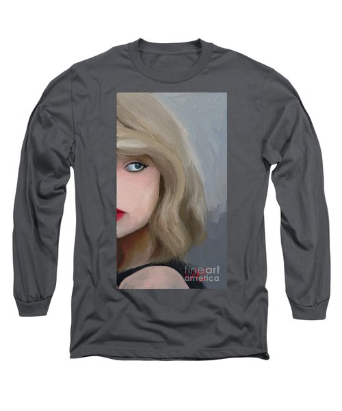 Taylor Swift  Long Sleeve T-Shirt by Barbara Stanley