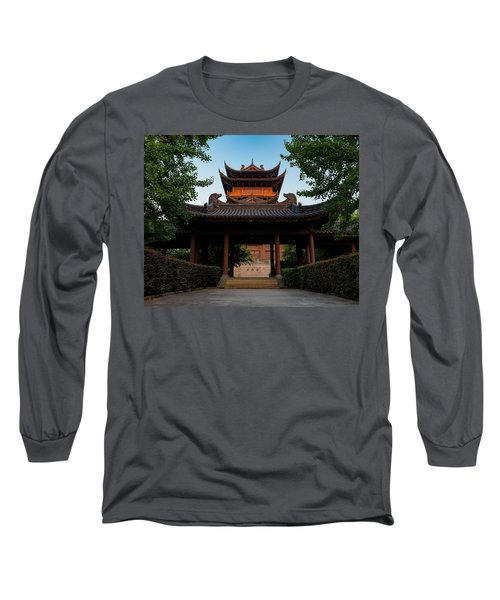 Tea House In The Morning I Long Sleeve T-Shirt