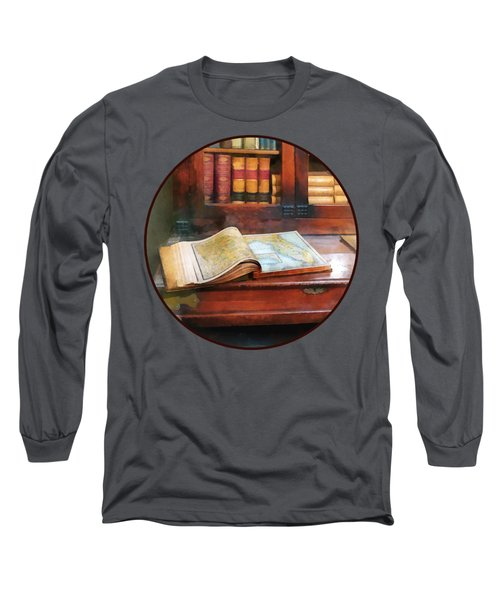 Teacher - Geography Book Long Sleeve T-Shirt by Susan Savad