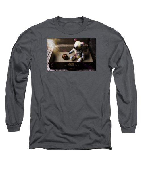 Teddy Bear In Suitcase Long Sleeve T-Shirt