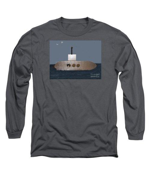 Teddy In Submarine Long Sleeve T-Shirt