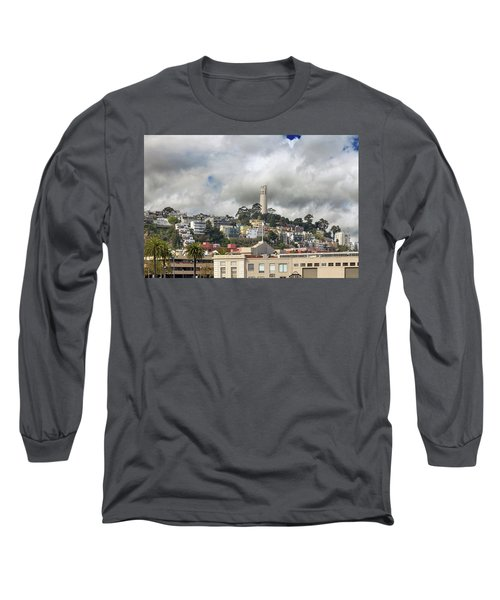 Telegraph Hill Neighborhood Homes In San Francisco Long Sleeve T-Shirt