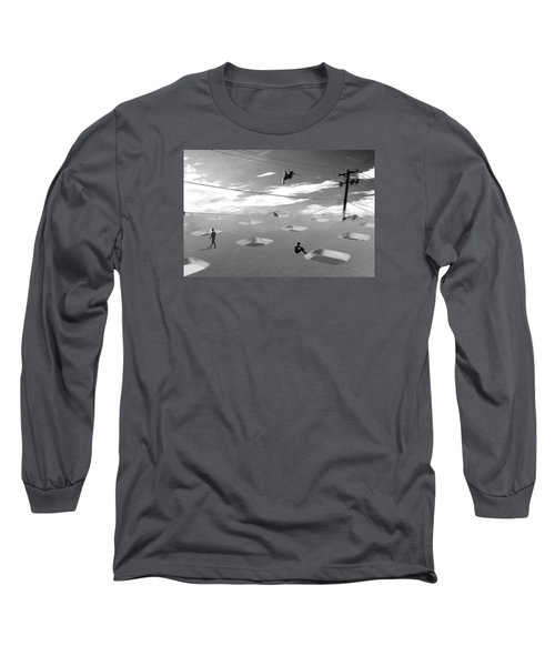 Long Sleeve T-Shirt featuring the photograph Telephone Line by Christopher Woods