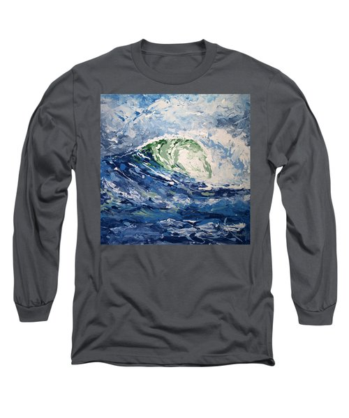 Long Sleeve T-Shirt featuring the painting Tempest Abstract by William Love