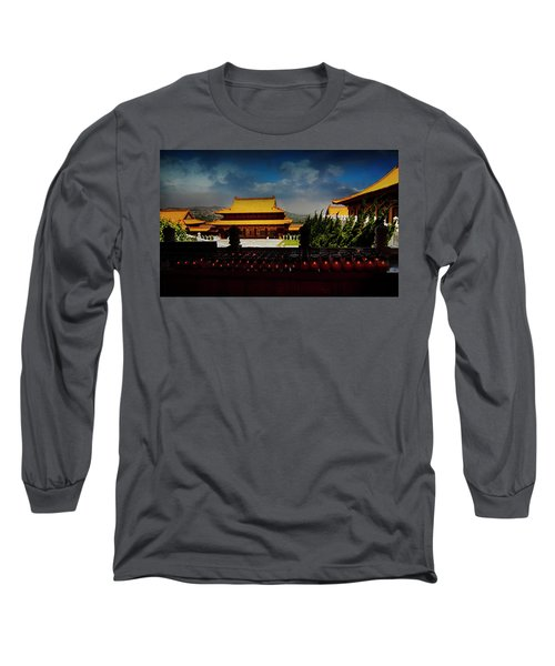 Long Sleeve T-Shirt featuring the photograph Temple Candles by Joseph Hollingsworth