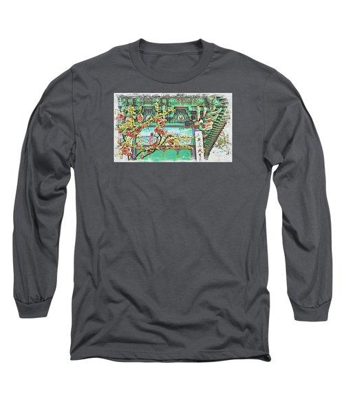 Temple Flowers Long Sleeve T-Shirt