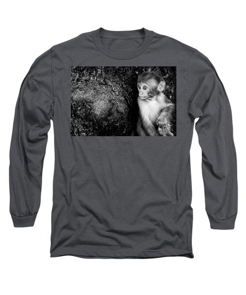 Temple Monkey Long Sleeve T-Shirt by James David Phenicie