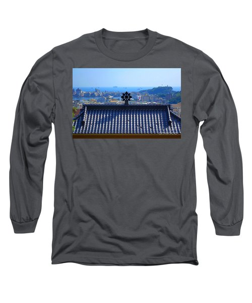 Temple Roof And Kaohsiung Port Long Sleeve T-Shirt by Yali Shi