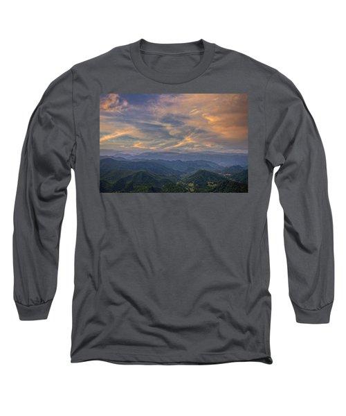 Tennessee Mountains Sunset Long Sleeve T-Shirt
