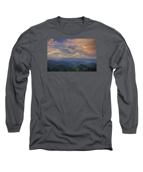 Tennessee Mountains Sunset Long Sleeve T-Shirt