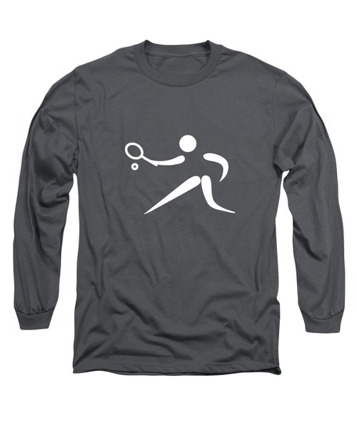 Tennis Player Long Sleeve T-Shirt by Frederick Holiday