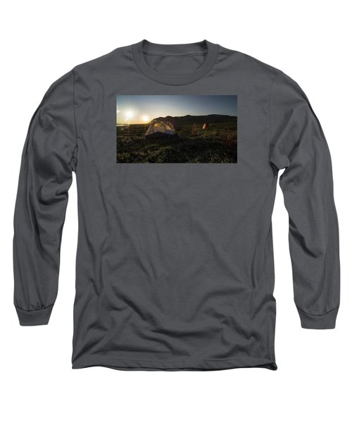 Tenting In The Midnight Sun Long Sleeve T-Shirt