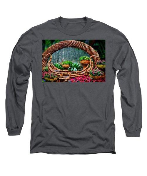 Long Sleeve T-Shirt featuring the photograph Terra Cotta Pot Gondola Art by Joseph Hollingsworth
