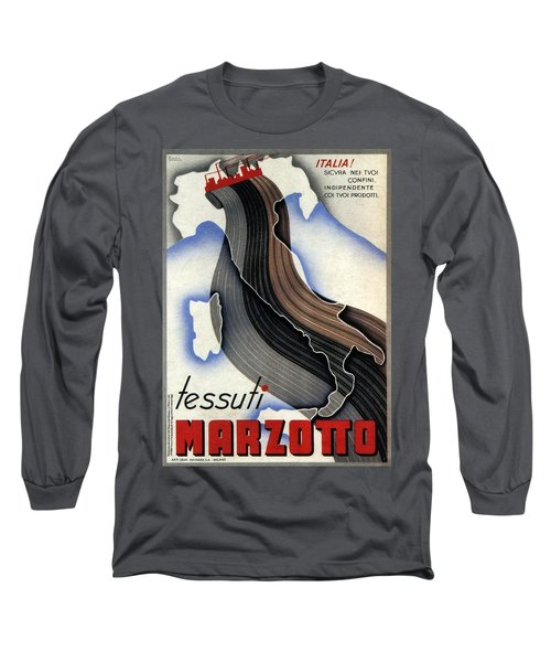 Tessuti Marzotto - Italian Textile Company - Vintage Advertising Poster Long Sleeve T-Shirt