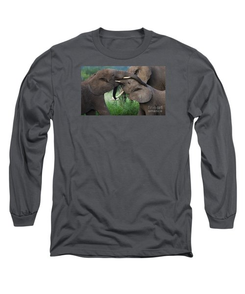Test Of Strength-signed Long Sleeve T-Shirt by J L Woody Wooden
