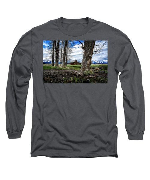 Long Sleeve T-Shirt featuring the photograph View From Mormon Row by Scott Read