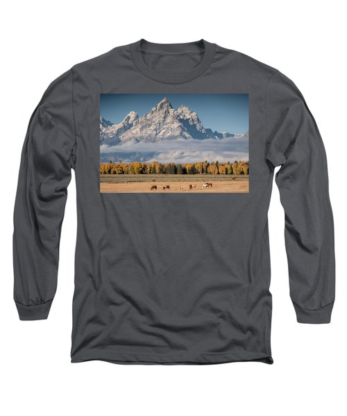 Teton Horses Long Sleeve T-Shirt